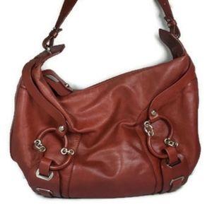 Francesco Biasai Red Leather Italian Handbag